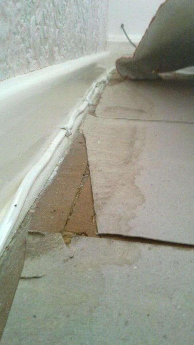 2.5 Spur Under Carpet ... along under the bed....