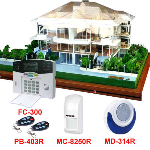 House Warning Alarm Systems for home security control panel and detectors