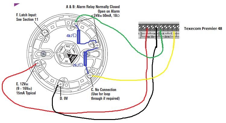 how to connect texecom exodus smoke detector to honeywell