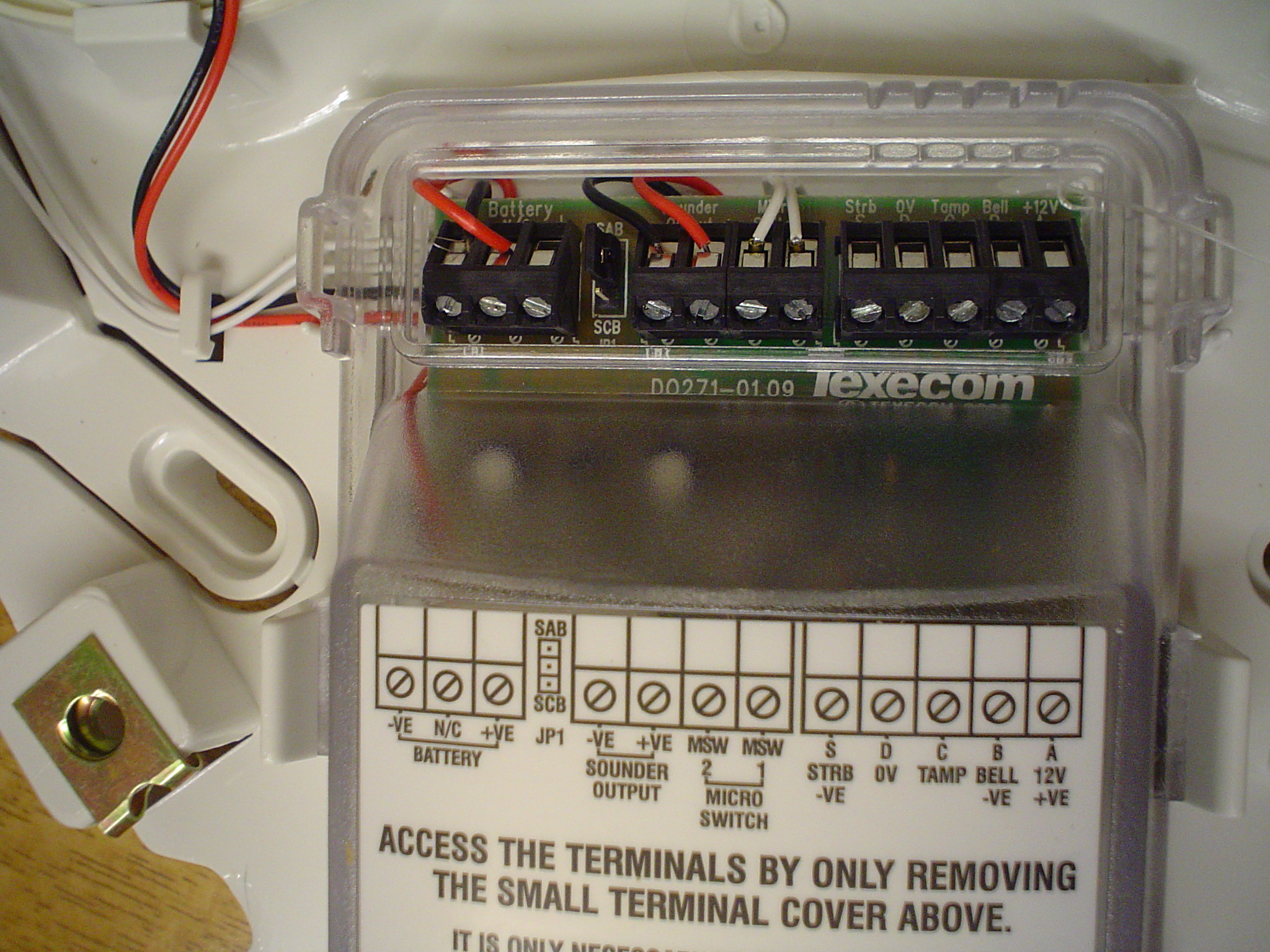 Wiring Diagram For Alarm Bell Box : Help installing a texecom odyssey bell box diy