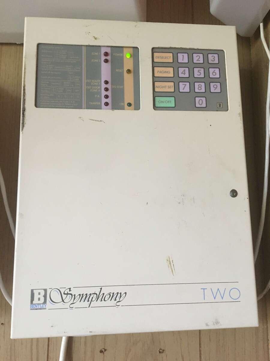 Bentley Symphony 2 Burglar Alarm Control Panel