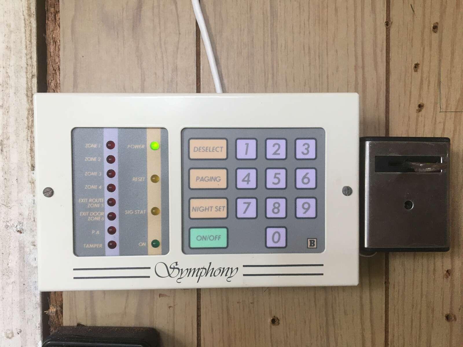 Bentley Symphony Alarm System Remote Keypad